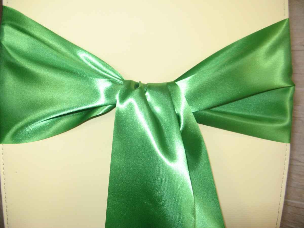 Saténové mašle - zelená - predaj - Obrázok č. 2