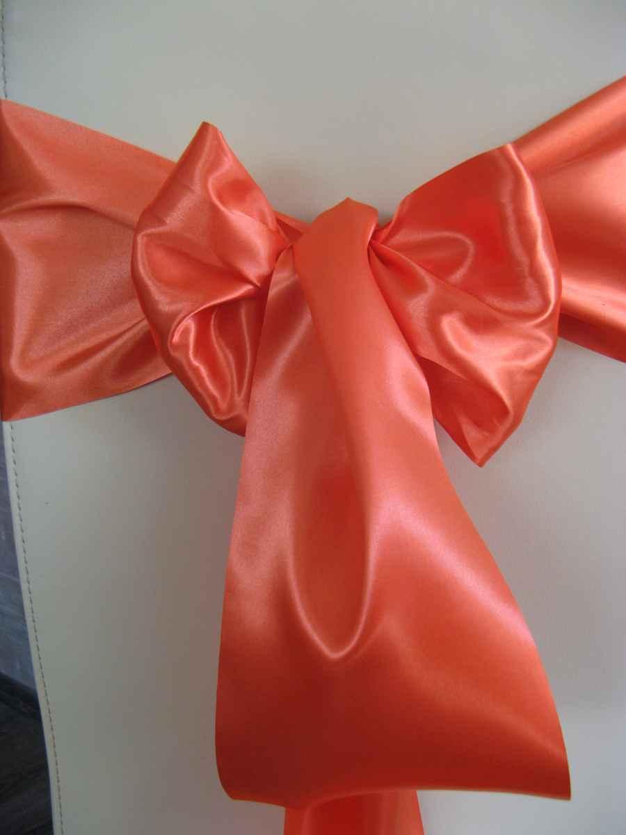 Saténové mašle - oranžová - predaj - Obrázok č. 1