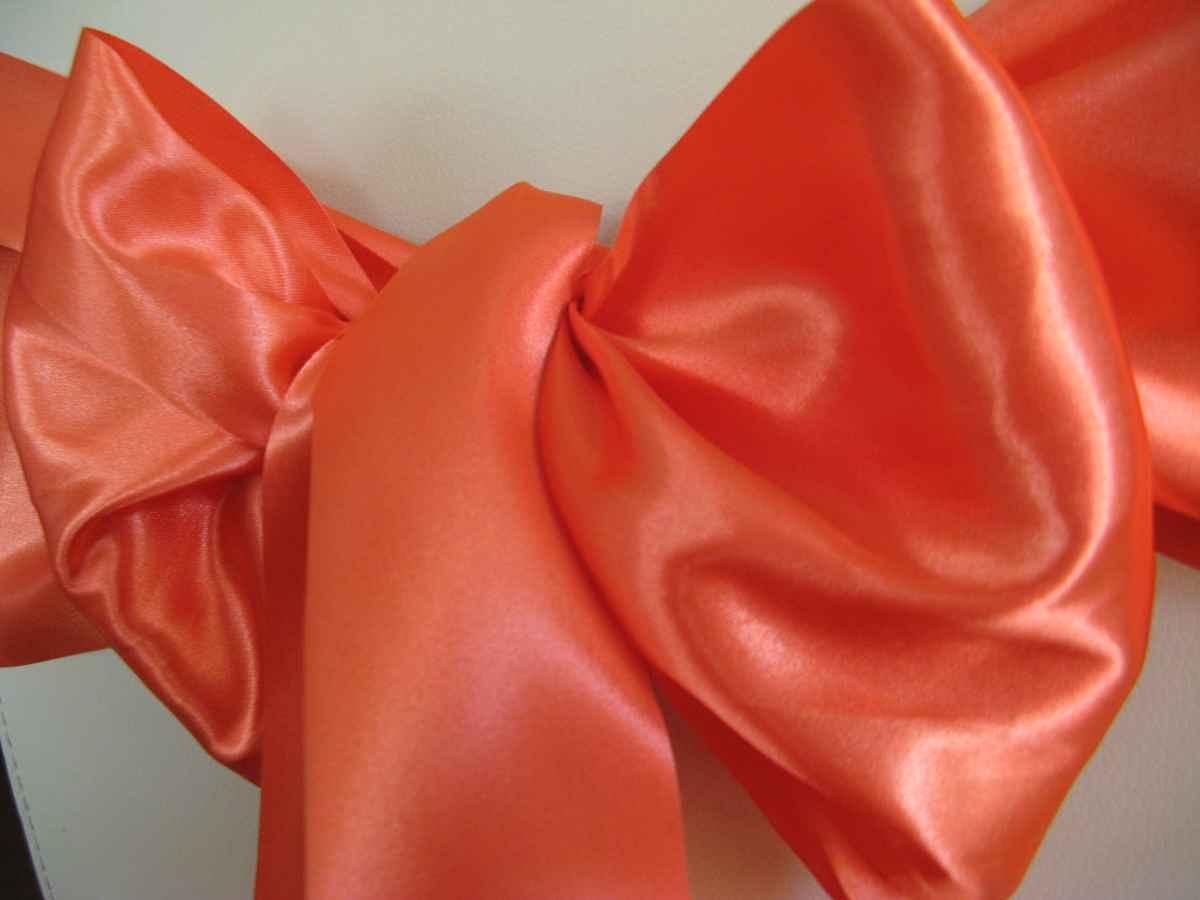 Saténové mašle - oranžová - predaj - Obrázok č. 2