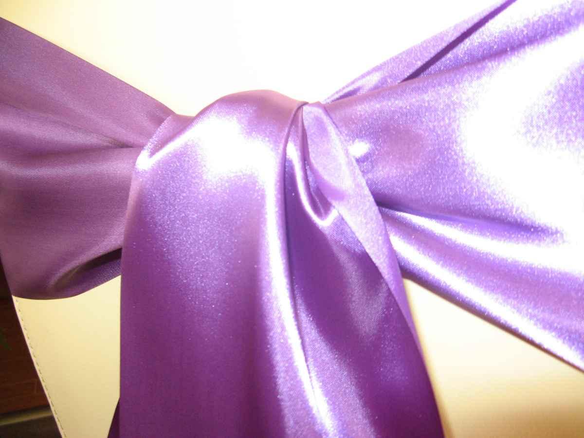 Saténové mašle - purpurová - predaj - Obrázok č. 2