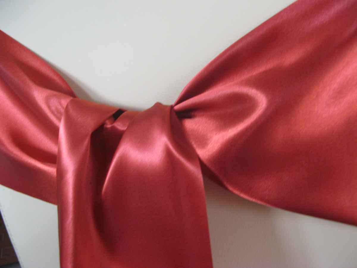 Saténové mašle - tmavočervená - predaj - Obrázok č. 2