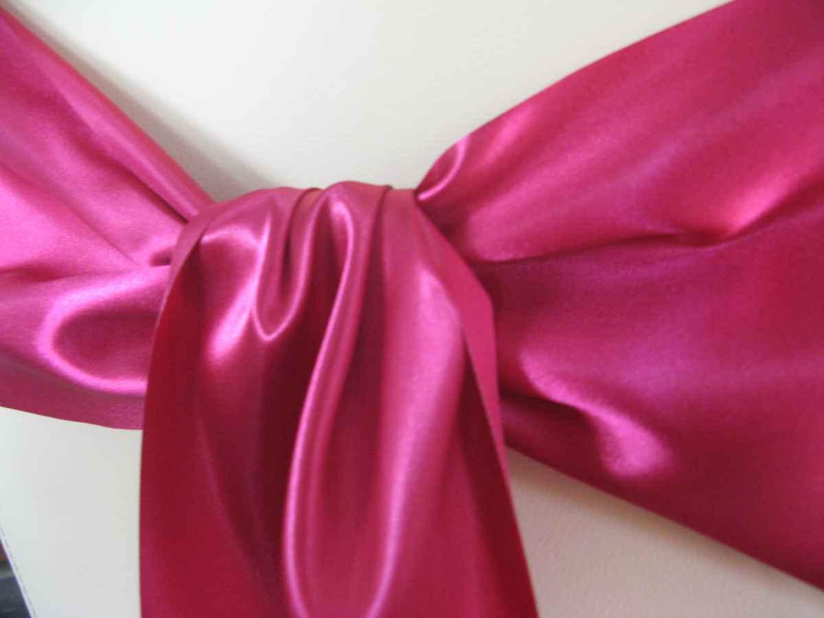 Saténové mašle - kráľovská purpurová - predaj - Obrázok č. 2
