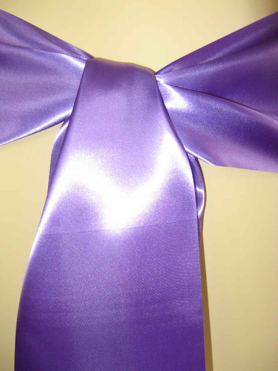 Saténové mašle - fialová - predaj - Obrázok č. 1