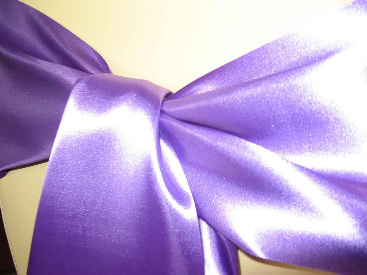 Saténové mašle - fialová - predaj - Obrázok č. 2