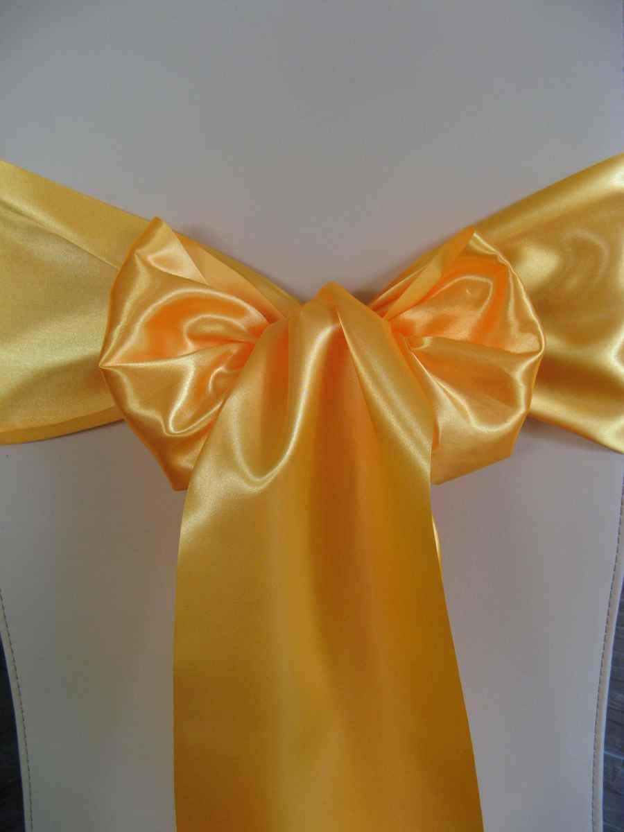 Saténové mašle - žltooranžová - predaj - Obrázok č. 1