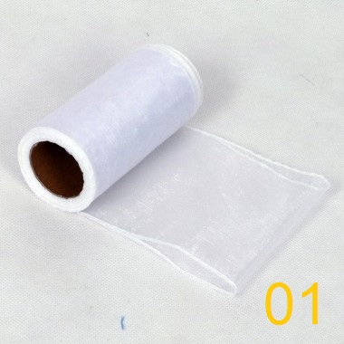 Organza 12cm x 9m obšitá - Obrázok č. 2
