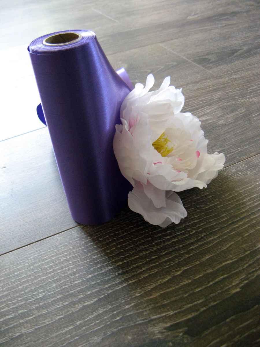 Saténové mašle - fialová - predaj - Obrázok č. 4