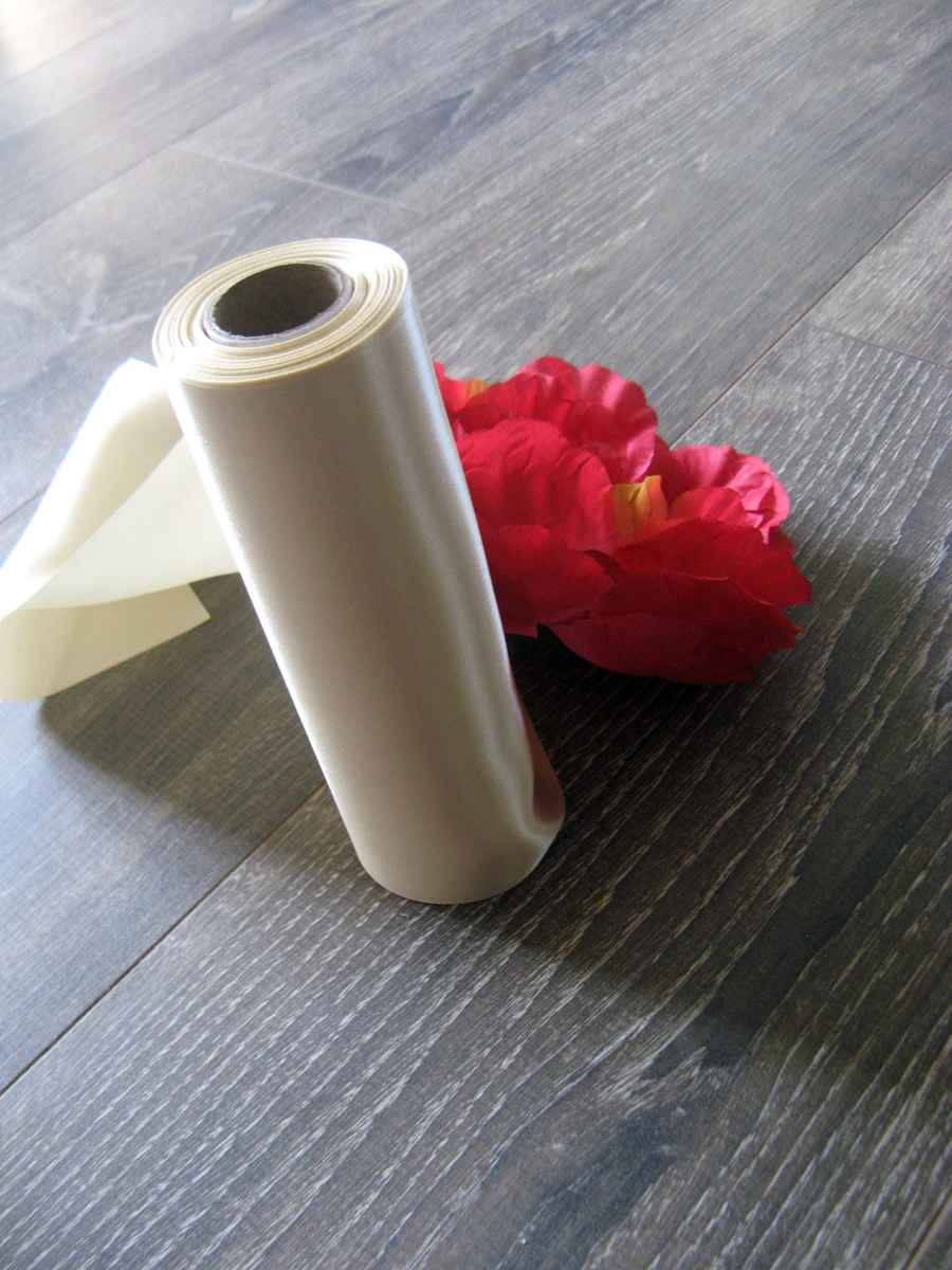 Saténové mašle - krémová - predaj - Obrázok č. 4