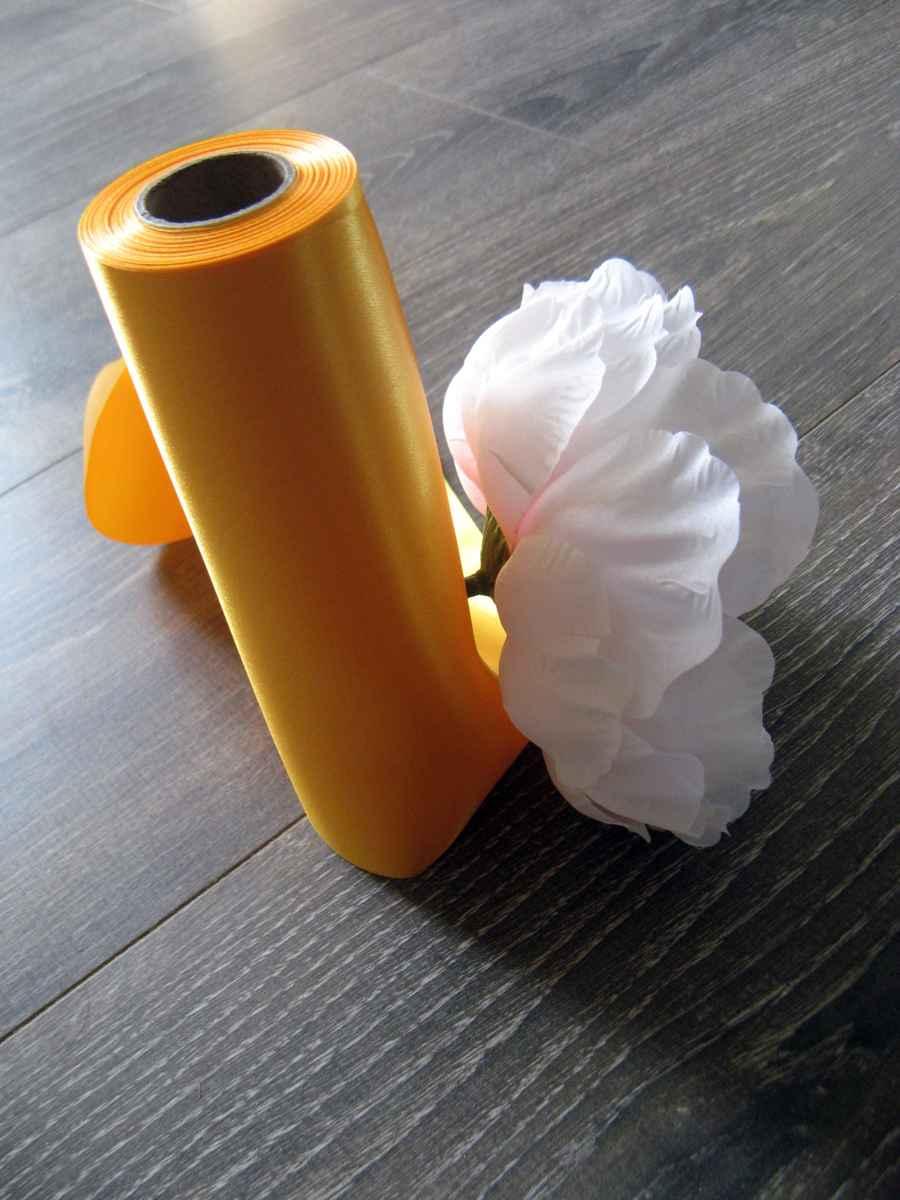 Saténové mašle - žltooranžová - predaj - Obrázok č. 4
