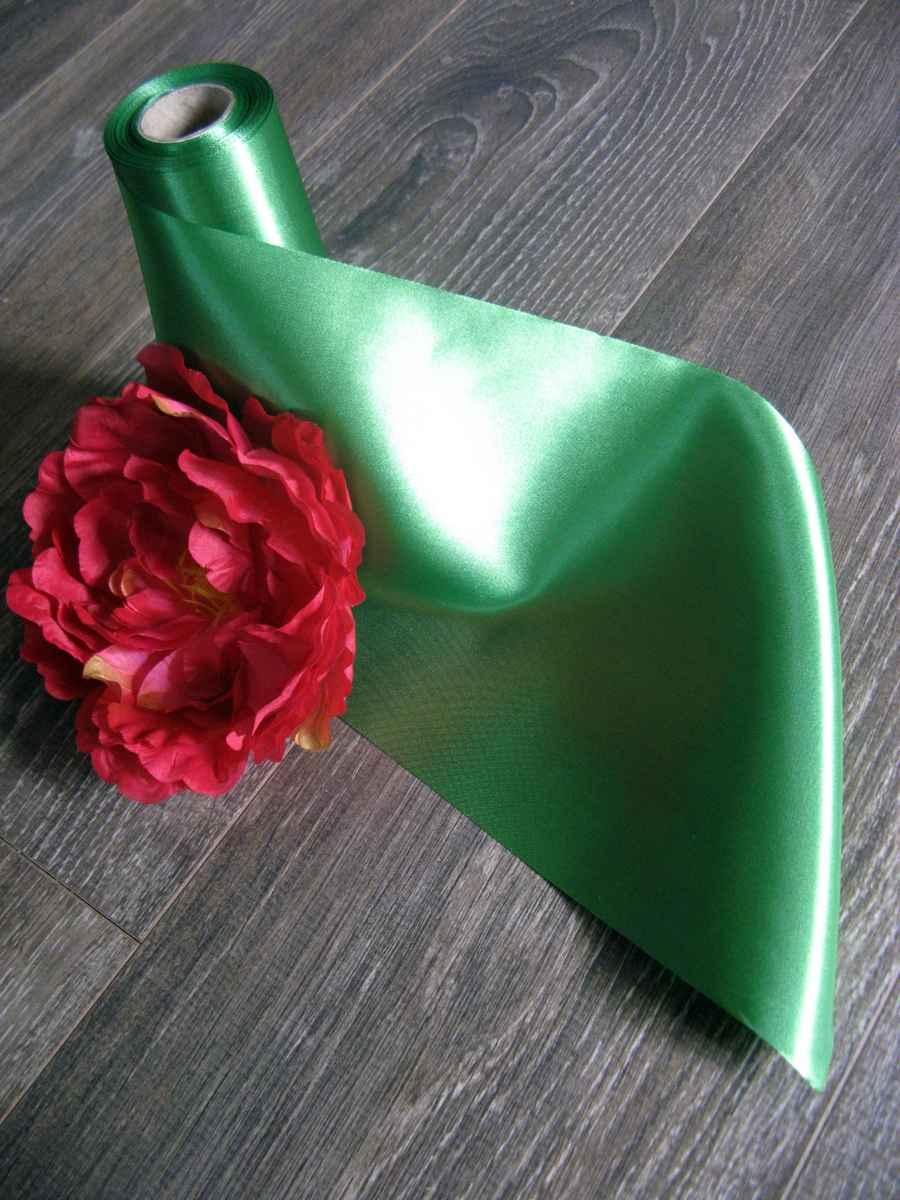 Saténové mašle - zelená - predaj - Obrázok č. 3