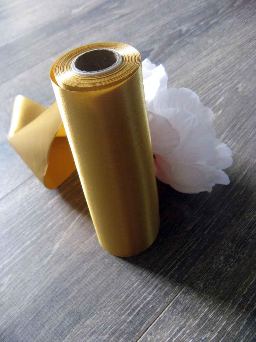 Saténové mašle - zlatá - predaj - Obrázok č. 4