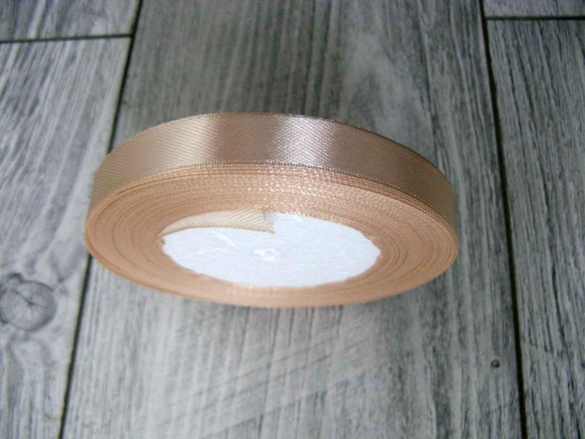 Saténová stužka krémová - True Cream 6mmx32m - Obrázok č. 2