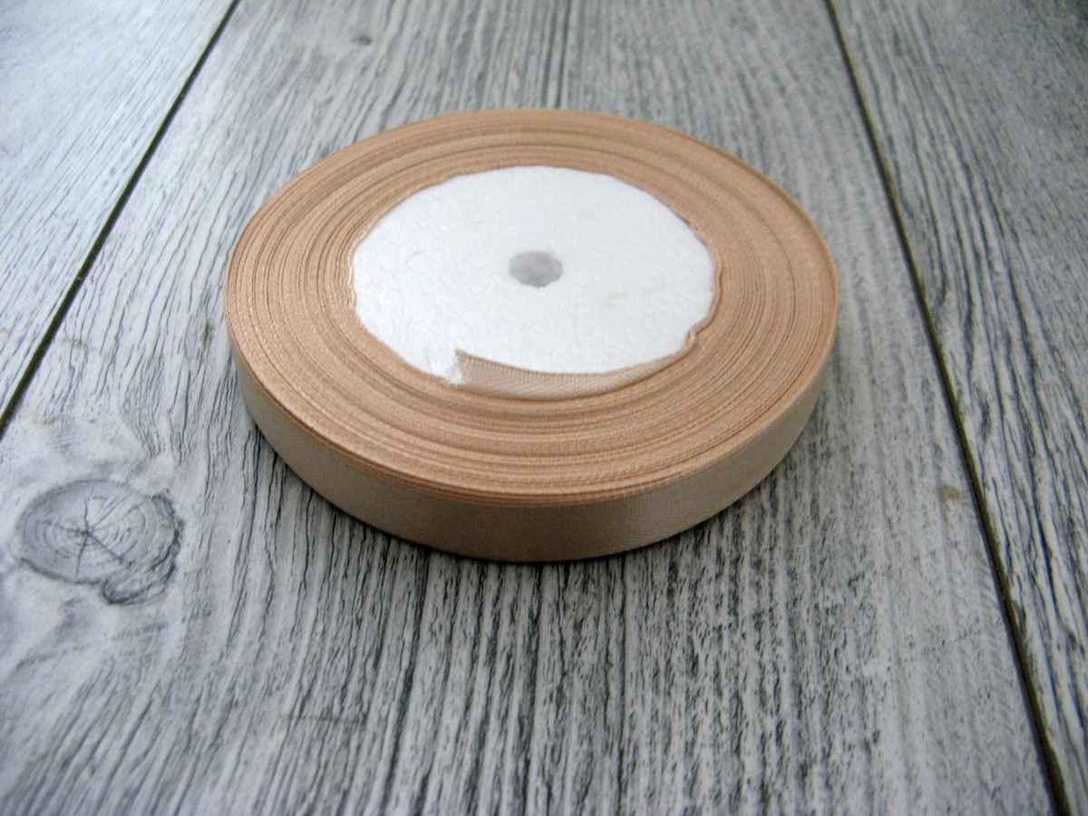 Saténová stužka krémová - True Cream 6mmx32m - Obrázok č. 1