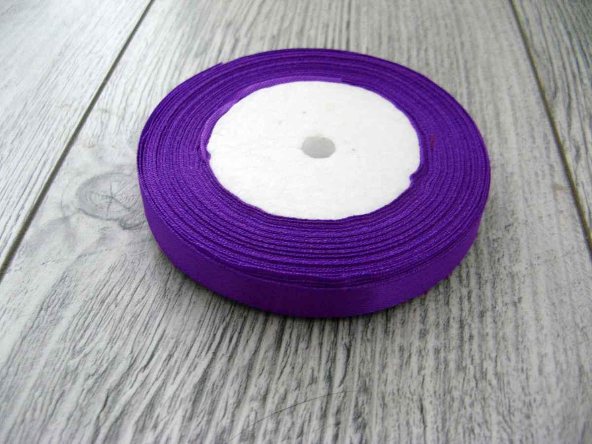 Saténová stužka fialová - Amethyst 6mmx32m - Obrázok č. 1