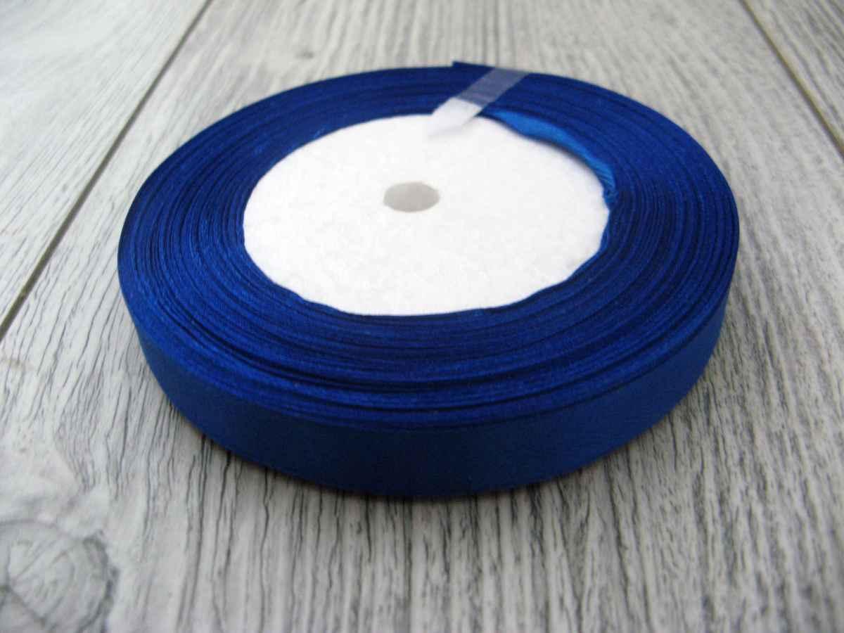 Saténová stužka modrá - Blue 6mmx32m - Obrázok č. 1