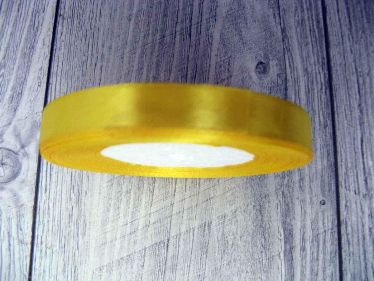 Saténová stužka žltá - Yellov 6mmx32m - Obrázok č. 2