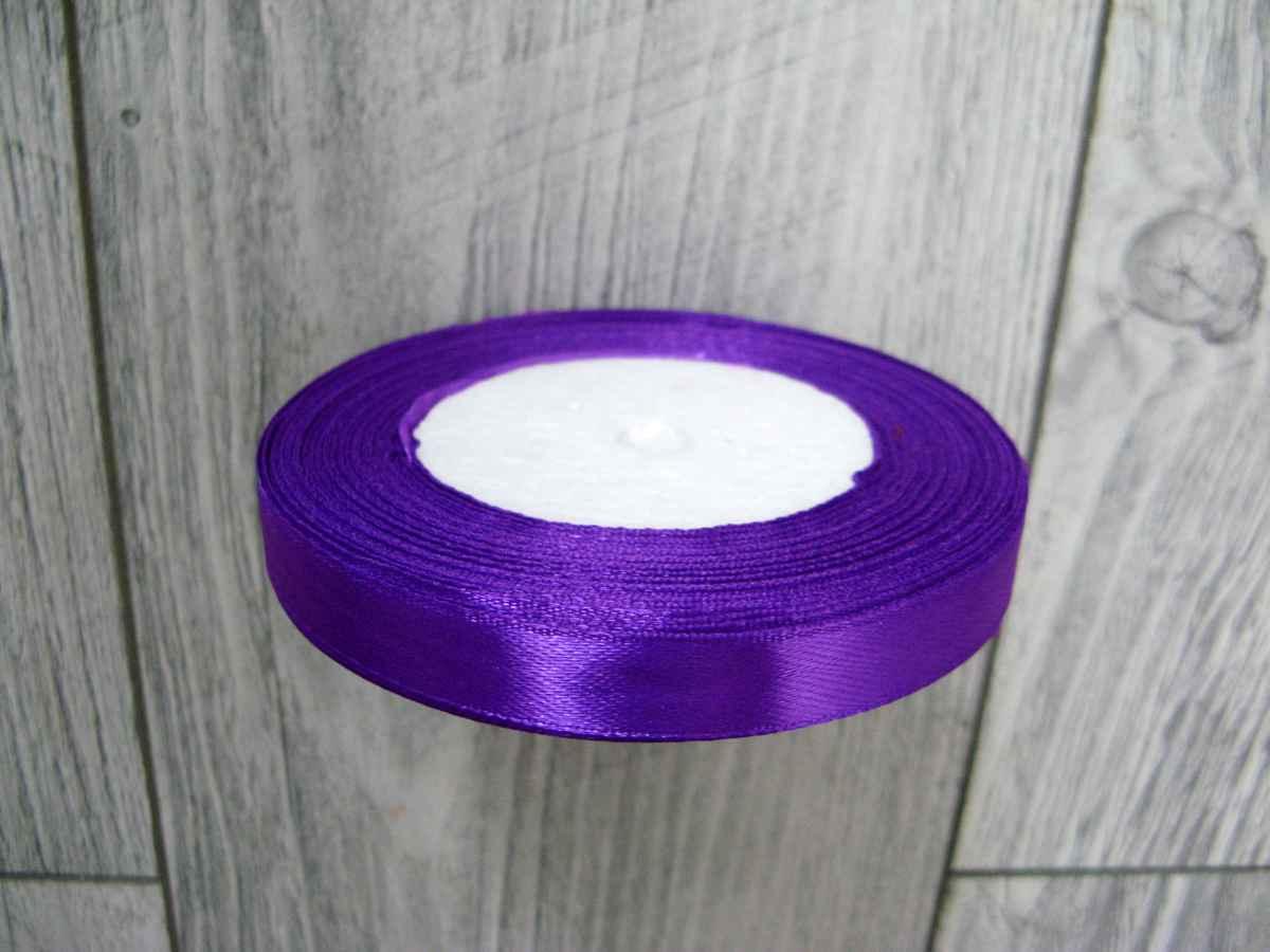 Saténová stužka fialová - Amethyst 12,5mmx32m - Obrázok č. 3