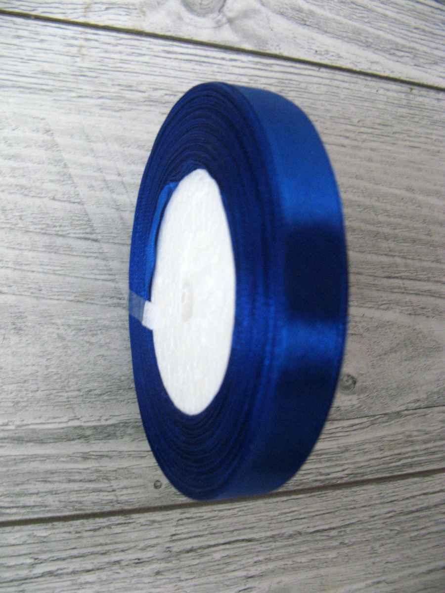 Saténová stužka modrá - Blue 12,5mmx32m - Obrázok č. 2