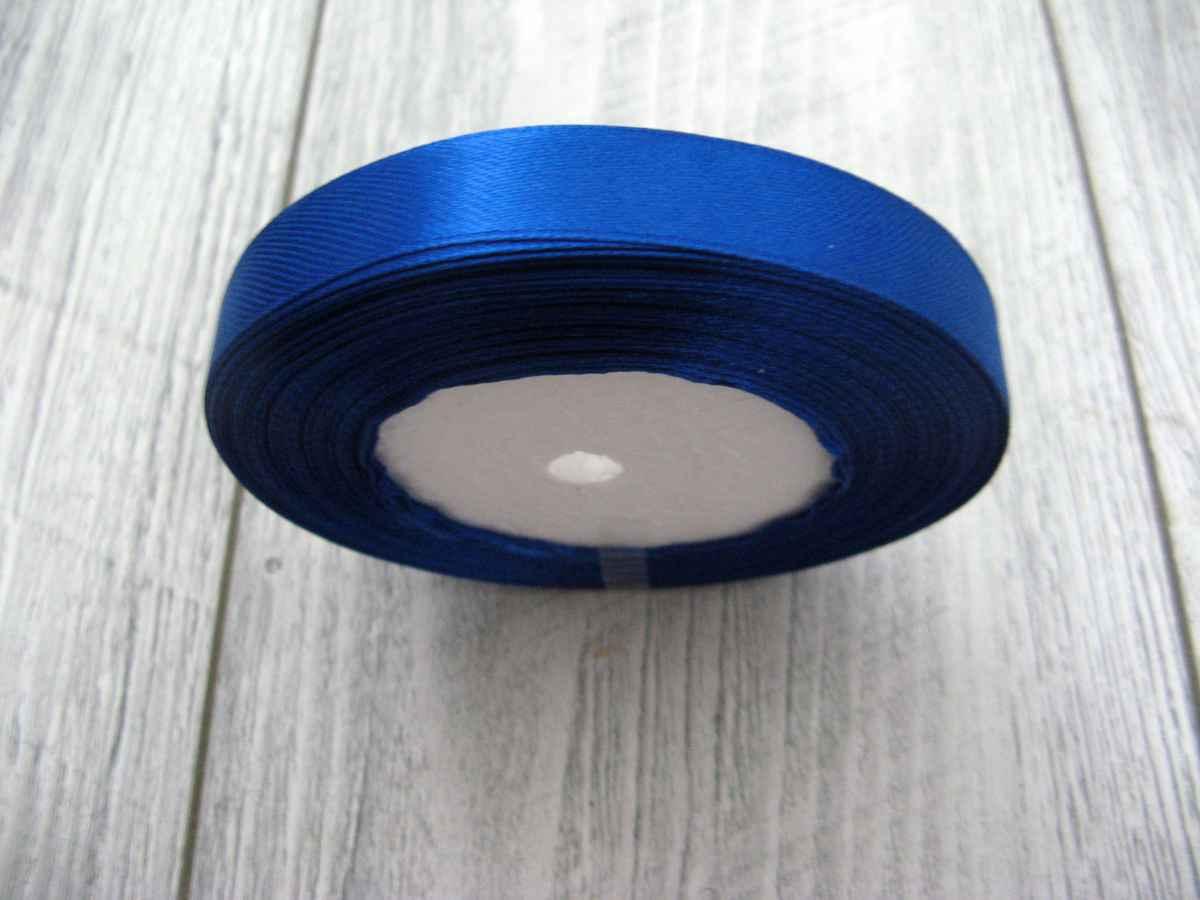 Saténová stužka modrá - Blue 12,5mmx32m - Obrázok č. 3