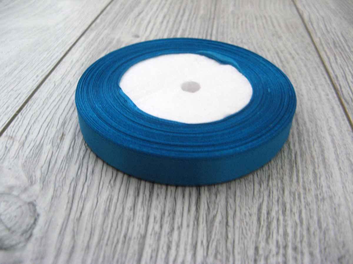 Saténová stužka modrá - Deep Blue 12,5mmx32m - Obrázok č. 1