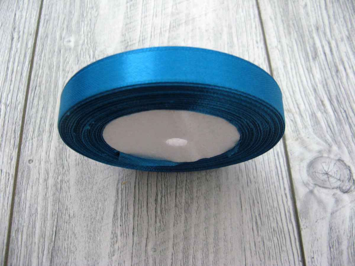 Saténová stužka modrá - Deep Blue 12,5mmx32m - Obrázok č. 2