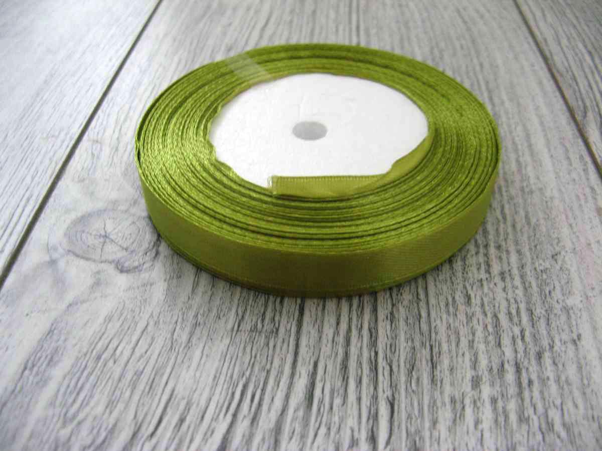 Saténová stužka zelená - Green 12,5mmx32m - Obrázok č. 1