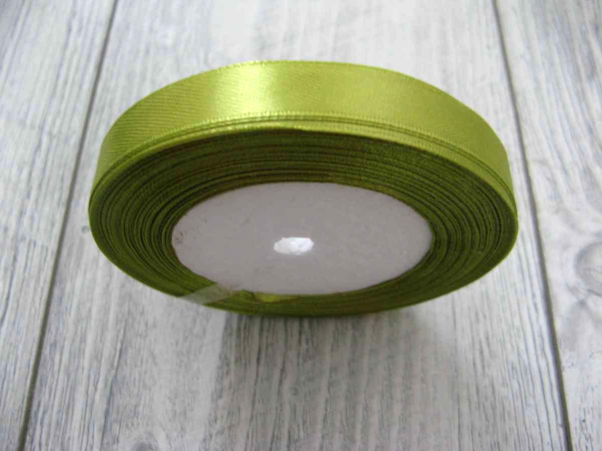 Saténová stužka zelená - Green 12,5mmx32m - Obrázok č. 2