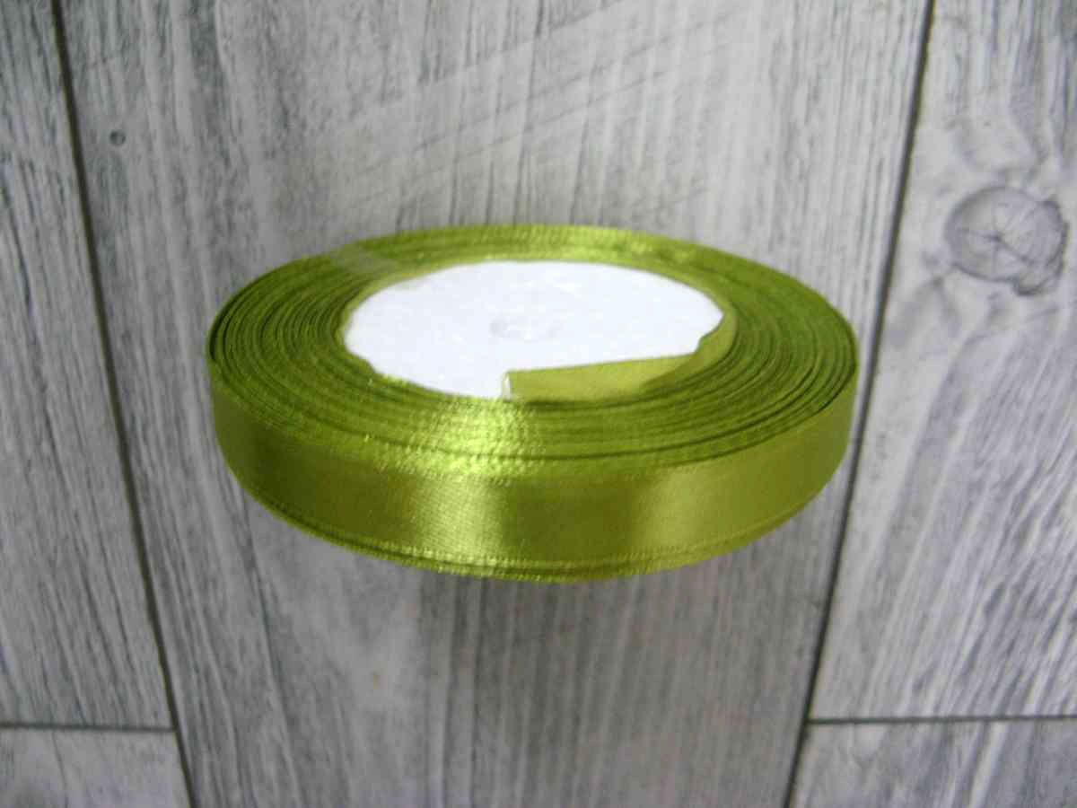 Saténová stužka zelená - Green 12,5mmx32m - Obrázok č. 3