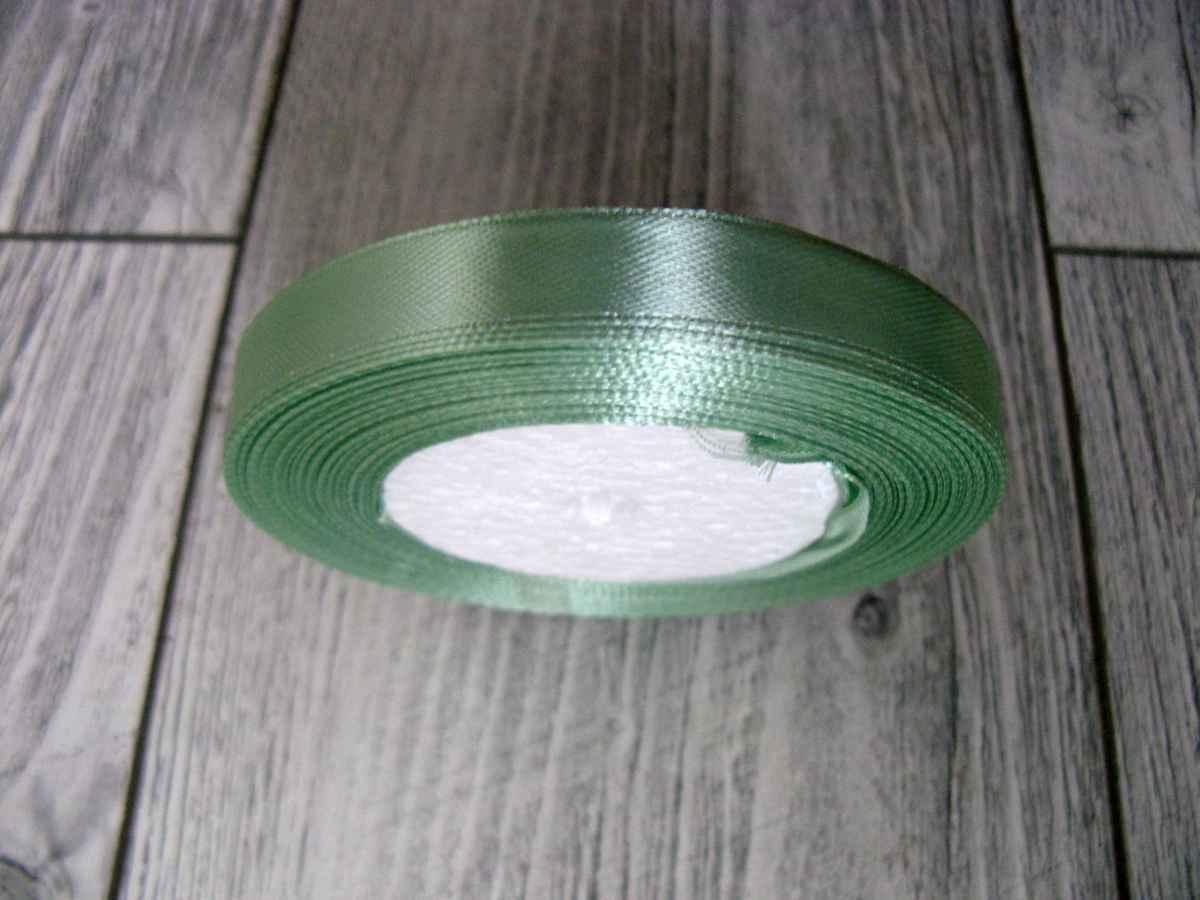 Saténová stužka zelená - Hemlock 12,5mmx32m - Obrázok č. 2