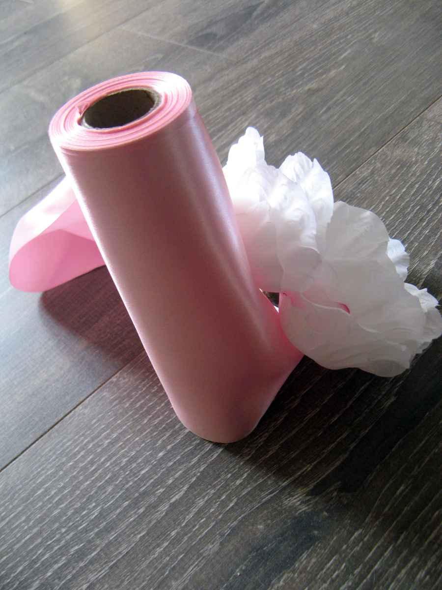 Saténová stuha ružová 36cmx9m - Obrázok č. 1