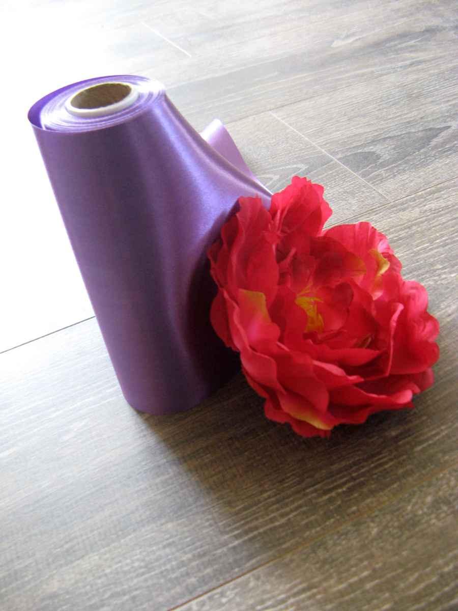 Saténová stuha purpurová 36cmx9m - Obrázok č. 1