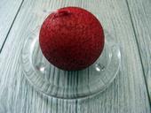 Sviečka guľa 6cm bordová s efektom kôry,