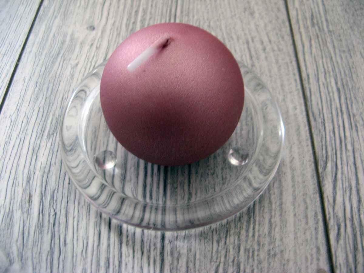 Sviečka guľa 6cm staroružová - Obrázok č. 1