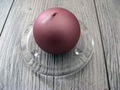 Sviečka guľa 6cm staroružová,