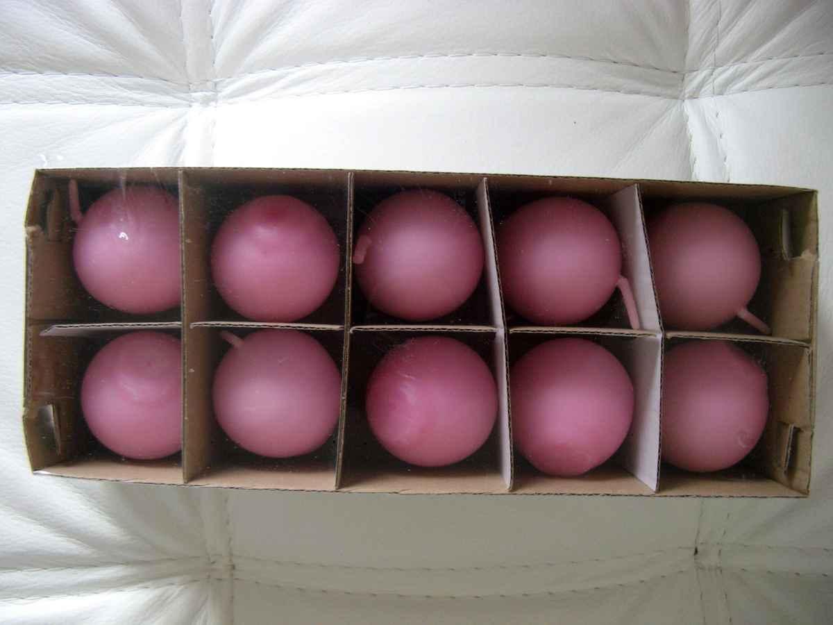 Sviečka guľa 4,5cm ružová - Obrázok č. 1