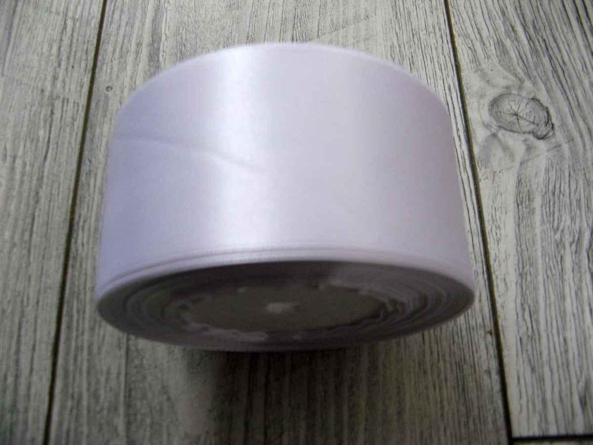 Saténová stužka biela - White 50mmx32m - Obrázok č. 2