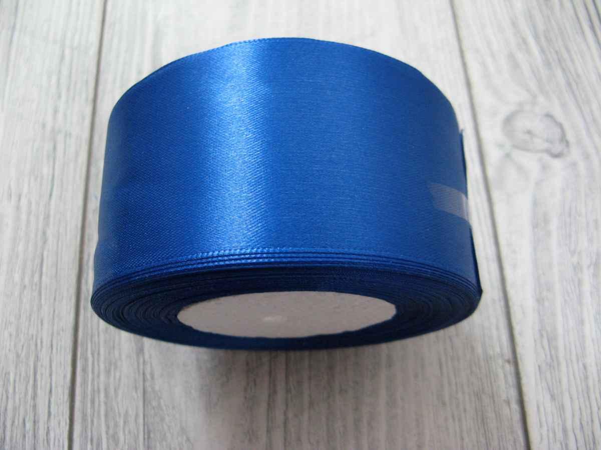 Saténová stužka modrá - Blue 50mmx32m - Obrázok č. 2