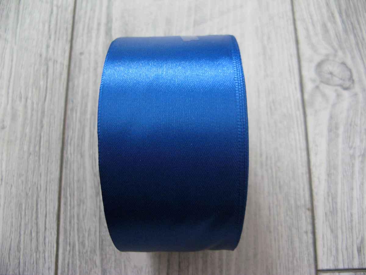 Saténová stužka modrá - Blue 50mmx32m - Obrázok č. 3