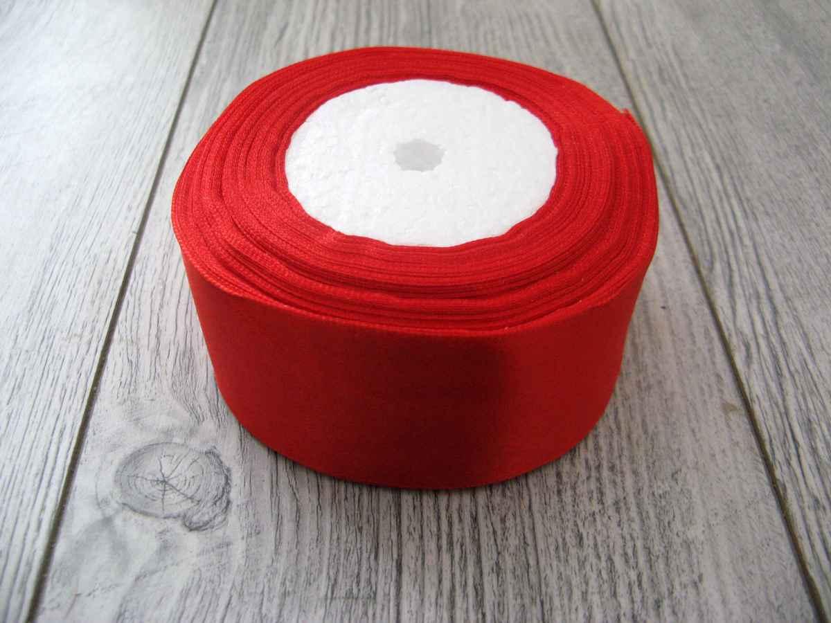 Saténová stužka červená - Pure Red 50mmx32m - Obrázok č. 1