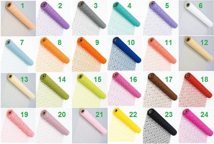 Dekoračná sieťka v mnohých farbách 48cm x 4,5m - Obrázok č. 1