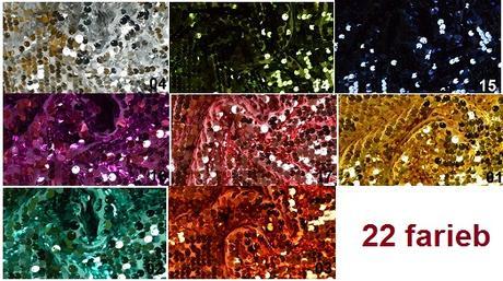 Dekoračná látka s flitrami L- rôzne farby - predaj - Obrázok č. 1
