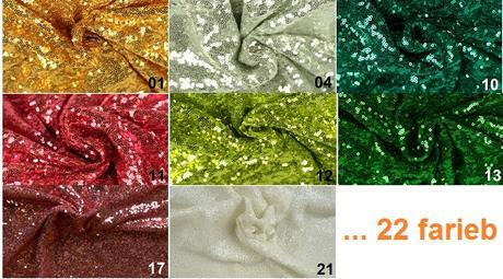 Dekoračná látka s flitrami M- rôzne farby - predaj - Obrázok č. 1