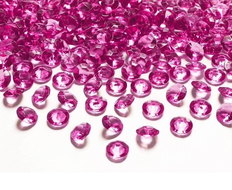 Dekoračné diamanty 12mm 100ks - viac farieb - Obrázok č. 1