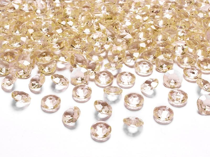 Dekoračné diamanty 12mm 100ks - viac farieb - Obrázok č. 2