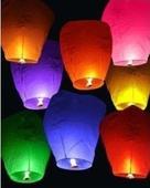 Lampión šťastia mix farieb 10ks,