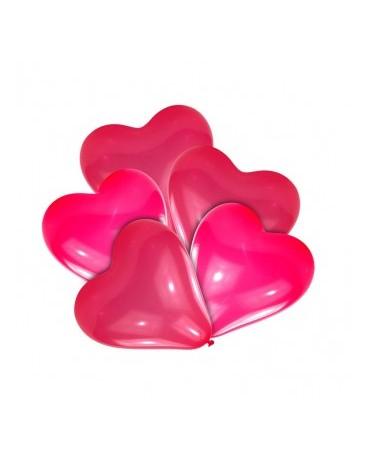 Latexový balón srdiečko 20cm biely alebo červený - Obrázok č. 1