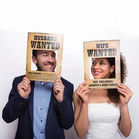 Rekvizity na fotenie Husband / Wife Wanted 2ks - Obrázok č. 1