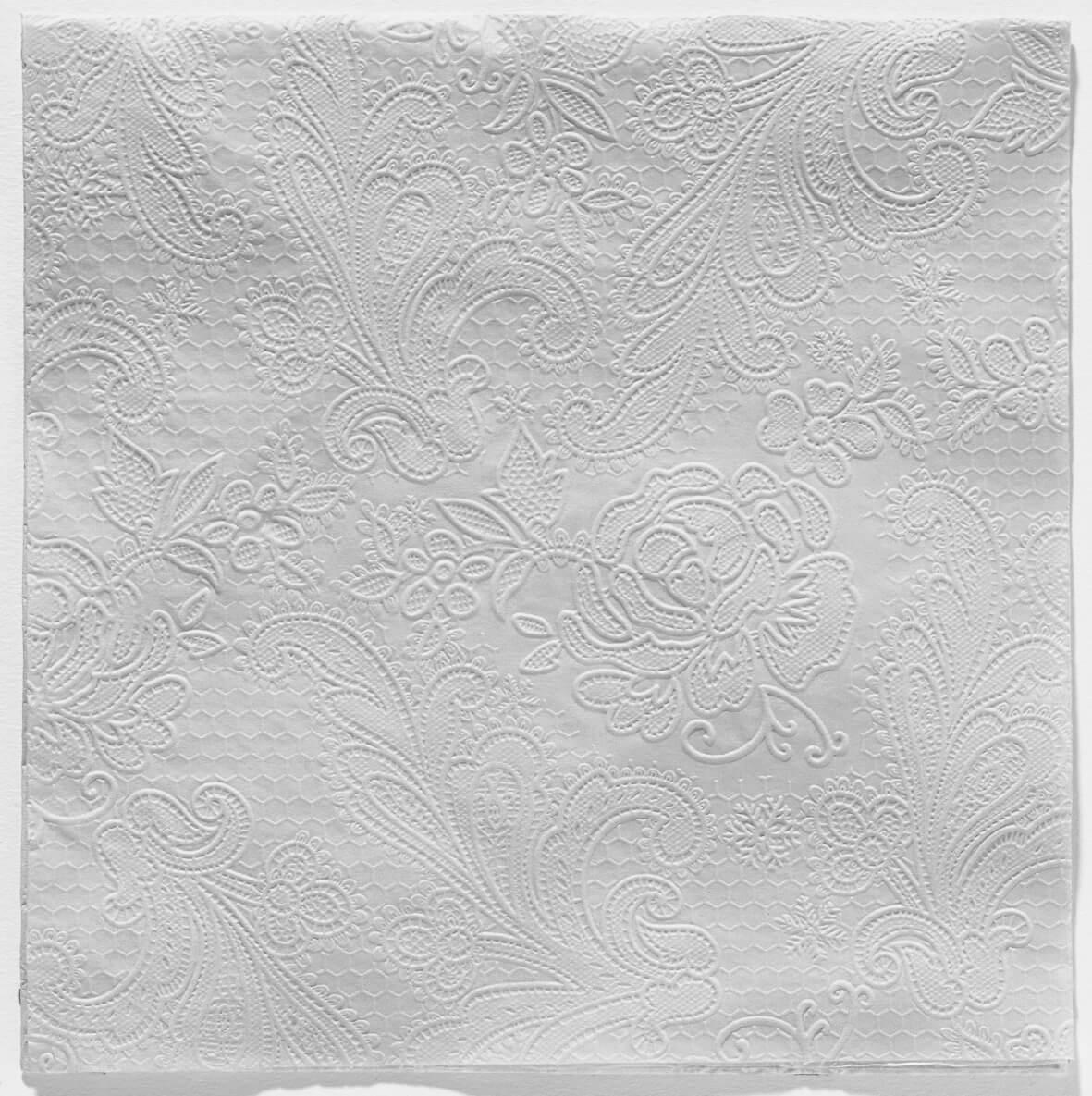 Reliéfne servítky s motívom čipky - sivá - Obrázok č. 1