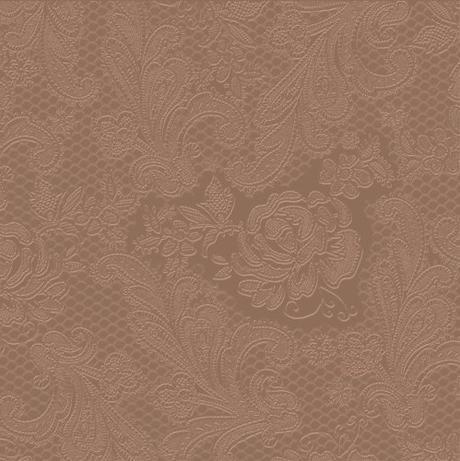 Reliéfne servítky s motívom čipky - čokoládová - Obrázok č. 1