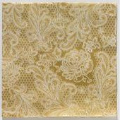 Reliéfne servítky s motívom čipky Royal Gold White,